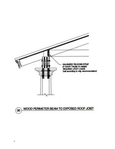 Wood Perimeter Beam To Exposed Roof Joist Roof Joist Beams Architecture Details