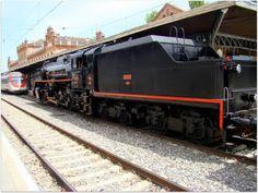 Tren de la Fresa. Año 2009.  Imágenes de la locomotora Mikado 141F-2111 a la cabeza del Tren de la Fresa, en la estación de Aranjuez. Cedida para la ocasión por el Museo del Ferrocarril de Galicia.