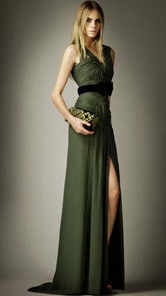 Ruched Detail Silk Dress | Burberry