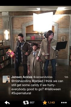 This is the greatest thing in the history of everything. Jensen and Jared tweeted this at the same time.
