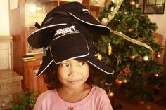 We tip our hat to this sponsored child!