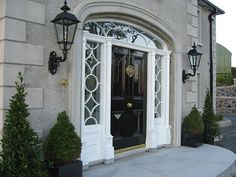 McAreavey Joinery Ltd, Northern Ireland, are specialists in the manufacture and supply of wooden external doors, wooden internal doors, wooden windows and wooden stairs. Double Front Doors, Wooden Front Doors, Front Entry, External Wooden Doors, Grey Interiors, Georgian Homes, Door Ideas, Interior Design Inspiration, Absolutely Stunning