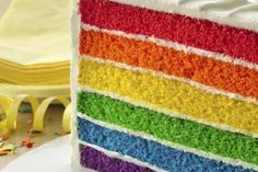 6-Layer Rainbow Cake - Rainbow Cake! Far from a baking fantasy, this multi-coloured marvel of moist sponge layers and lightly whipped white frosting is no illusion. Perfect for birthdays, celebrations and parties. If you're looking for a recipe for Easy 6-Layer Rainbow Cake, you came to the right place! ... Fun, pretty, delicious and awesome, The Rainbow Cake never fails to make everyone smile! (LessonsGoWhere.com.sg)