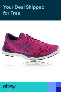 92ba78ff130 ASICS 33-DFA 2 Womens Pink Purple Cushioned Running Road Sports Shoes  Trainers