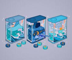 Aesthetic Drawing, Aesthetic Art, Aesthetic Anime, Arte Do Kawaii, Kawaii Art, Kawaii Wallpaper, Cartoon Wallpaper, Arte Copic, Japon Illustration