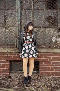 Floral dress. <3