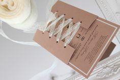 hochzeitseinladung hochzeit einladung zur hochzeit hochzeitskarte einladungskarte karte hochzeits einladung handgefertigt einladungen elfenbein rustikal vintage spitze einladungs