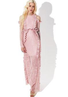 ecce2adbf39 Glamorous Tribute Ruffled Maxi Dress we'd sacrifice it all for you, bb!