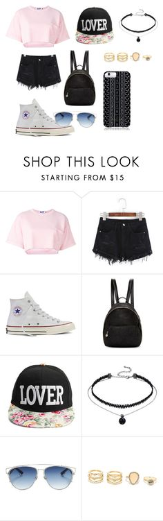 """""""Untitled #6"""" by kimmyngo ❤ liked on Polyvore featuring Steve J & Yoni P, Converse, STELLA McCARTNEY, Christian Dior, LULUS and Savannah Hayes"""