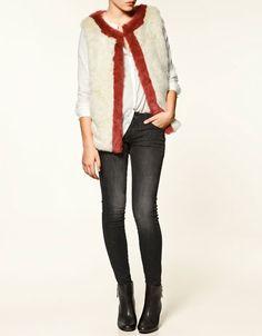 SHEEPSKIN GILET - Blazers - Collection - Woman - ZARA United States - StyleSays