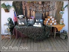 millitary themed party decor | seven thirty three - - - a creative blog: Link Party Wrap-Up