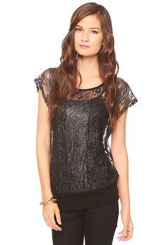 Metallic Lace Top - Shop All Sale - Women - 2083315303 - Forever 21 EU
