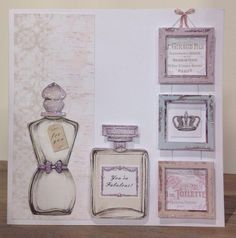 Girly Stuff, Girly Things, Craftwork Cards, Vintage Ephemera, Versailles, Card Ideas, Card Making, Fragrance, Perfume