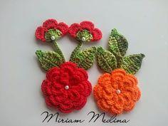 Como aplicar Flores - Miriam Medina artes em crochê - YouTube Crochet Flower Tutorial, Crochet Flower Patterns, Flower Applique, Crochet Designs, Knitting Patterns, Crochet Dishcloths, Crochet Doilies, Crochet Stitches, Irish Crochet