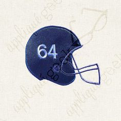 Football Helmet Appliqué Embroidery Design INSTANT DOWNLOAD for DIY projects, from Designed by Geeks. Use vinyl & other materials for Silhouette projects, Cricut projects, Brother ScanNCut projects. No desktop plotter or cutting machine? Use a printer & photo transfer paper! Instructions included.  ***Please note: There are NO NUMBERS included in this file.***