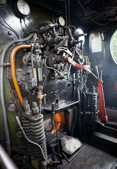 Steam train cab controls