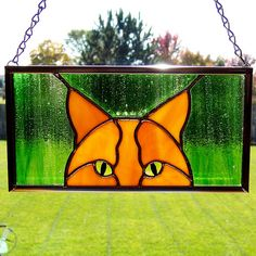 Jungle cat stained glass panel by Good Grief Glass, via Flickr