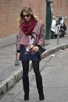 glam4you - nati vozza - chamois - bolsa - celine trio - botinha - boots - farm - look - blog - azul -dior - lady dior - madrid - dvf - mixed -- bobo - boho style -  estampa - saia