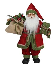 Look at this Standing Santa Holding Gift Bag Décor on #zulily today!