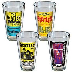 Beatles Concert Poster Pint Glass Set