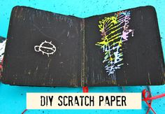 DIY Scratch Paper from Recycled Books