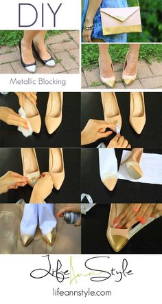 DIY Colorblocking: Repurpose those neglected shoes in your closet and give them new life!  Super easy DIY!  | www.LifeAnnStyle.com