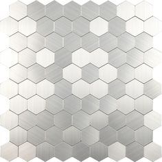 Looking ideas for your bathroom or kitchen? Invite the hexagon trend into your interiors with these hexagonal metal mosaic tiles. They have a brushed finish; giving each piece its own character. They're self adhesive and don't require grouting. Tiling has never been easier!