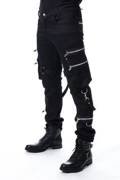Mens Pants – Page 2 – Vampirefreaks Store Mode Cyberpunk, Cyberpunk Fashion, Punk Outfits, Gothic Outfits, Vampire Fashion, Gothic Fashion Men, Steampunk Fashion, Punk Boy, Punk Girls