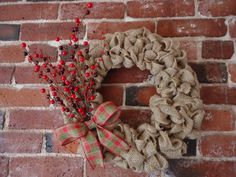 Berry Wreath  Christmas Wreath  Holiday by adorableaDOORnments #HEPTEAM