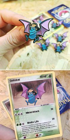 Les badges Pokémon x Simpsons : Otto et Golbat