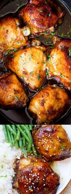 This Slow Cooker Honey Garlic Chicken from Dinner, then Dessert makes one amazing dinner for your family! The recipe is easy to make and uses only 5 simple ingredients making it the perfect weeknight meal for your family.