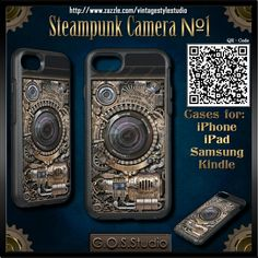 Art Design by GOSStudio. http://gosstudio.com ★ http://www.zazzle.com/vintagestylestudio ★ Steampunk Camera #1  Phone Cases for: iPhone 7, iPhone 6,  iPhone 3G/3GS, iPad Air, iPad mini, iPad, iPod Touch 5g, iPod Touch, Samsung Galaxy S7, Samsung Galaxy S6, Samsung Galaxy S5, Samsung Galaxy S4,  ★  #Steampunk #Samsung #iphone #Cases #S6 #S7 #Samsungcases #ipad #samsunggalaxys  #victorian #iphonecases #phonecases