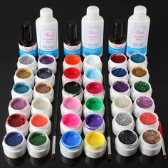 12 Color UV Gel Cleanser Nail Art Set
