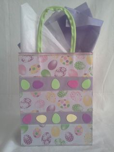 Handcrafted easter gift bag covered with colorful eggs wfabric find this pin and more on selling on ebay handcrafted easter gift negle Gallery