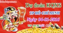 Dự đoán KQXSHCM ngày 4-01-2016 - Dự đoán kết quả xổ số TP Hồ Chí Minh Thứ 2