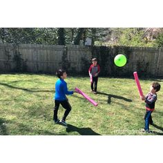 Pool Noodle Balloon Game * ages ⋆ Raising Dragons Such a fun outdoor game and great for building gross motor skills! Pool Noodle Balloon Game * ages ⋆ Raising Dragons Such a fun outdoor game and great for building gross motor skills!
