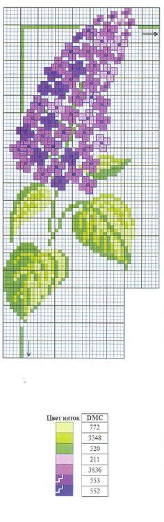 Hyacinth x-stitch