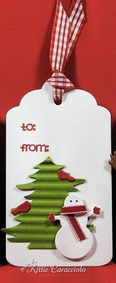 Fast and Easy Christmas Tags and Clean and Simple Christmas Window and Wreath - KittieKraft