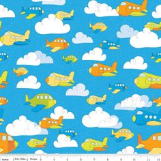 SALE  Riley Blake by Bo Bunny  On the Go Planes by BobbieLouFabric, $3.50