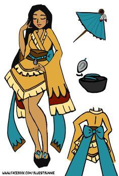 Pocahontas Wa Lolita Disney Princess Design by Lyndzy Lucchesi ( bluebunneh ) https://www.facebook.com/bluestbunnie/media_set?set=a.10202431054794102.1073741841.1125777448&type=3