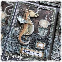 SWIPE FOR MORE PICTURES!   The cute little seahorse is from hÄnglar & stÄnglar but I added a mustache and a hat. Of course I needed to use one of the amazingly embossing powder from Emerald Creek. And the text is from Tim Holtz. See all my ATC cards at: {#miloliljaartATC} {#miloliljaART} {#hanglar} {#myart} {#scrapbooking} {#instadaily} {#art} {#instaart} {#artist} {#masterpiece} {#paperart} {#crafting} {#hänglarstänglar} {#scraptop} {#vintage} {#shabbychic} {#mixedmedia} {#atc} {#hänglar}…