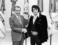 Richard Nixon and Elvis Presley 1970
