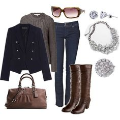 This is one of my outfits this fall and winter.  Classy.