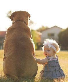 Perros protegiendo a sus bebés humanos ¡La cosa más tierna que verás hoy! ⋮ Es la moda