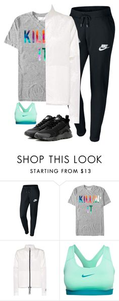 """{OOTD}"" by star-lit-fashion ❤ liked on Polyvore featuring NIKE, Chin Up and PBsOOTDs"