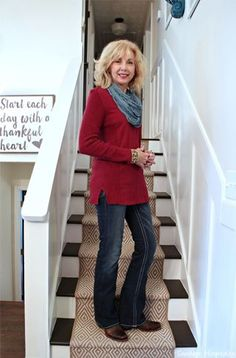 faded jeans fashion For Women Over 50 #FashionStylesforWomen