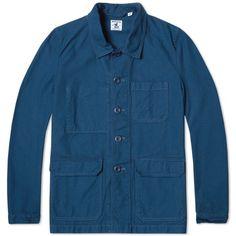 Arpenteur Travail Work Jacket (Azure Blue Serge)