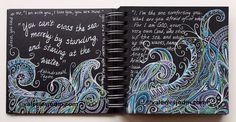 visual blessings: Doodling on the Dark - Walking by Faith