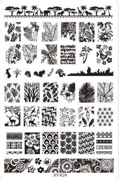 XYK-1 PCS Nail Art Stamper Plate DIY Plastic Nail Tool Gel Polish Printer Transfer Nail Flowers Decoration Decorator