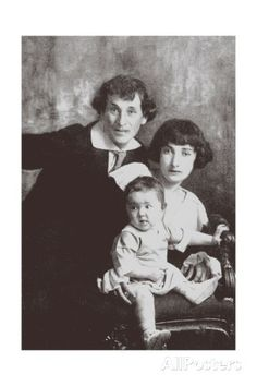 Marc Chagall with His First Wife Bella and Daughter Ida Giclee